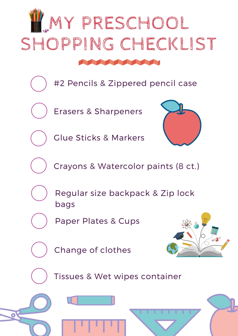 school supply list for preschool back to school supplies list for all grades 2018 19 744