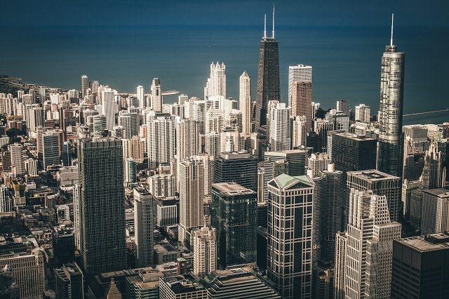 Lake Michigan-and-chicago-skyline