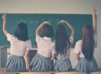 four-school-girls-in-school-uniform.